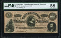 """Confederate Notes:1864 Issues, CT65/491 """"Havana Counterfeit"""" $100 1864. PMG Choice About Unc 58.. ..."""