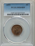 Indian Cents: , 1894 1C MS64 Brown PCGS. PCGS Population: (100/25). NGC Census: (111/39). CDN: $125 Whsle. Bid for problem-free NGC/PCGS MS...