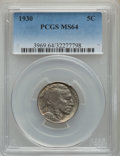 Buffalo Nickels: , 1930 5C MS64 PCGS. PCGS Population: (1050/1721). NGC Census: (627/544). CDN: $75 Whsle. Bid for problem-free NGC/PCGS MS64....