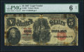 Fr. 88* $5 1907 Legal Tender Star PMG Good 6 Net
