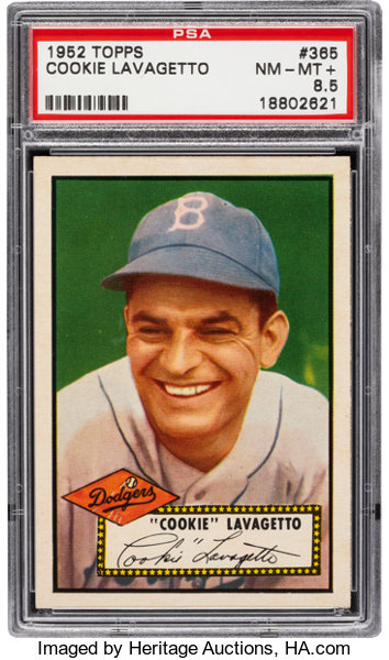 1952 Topps Cookie Lavagetto 365 Psa Nm Mt 85 Baseball Cards