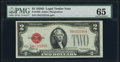 Small Size:Legal Tender Notes, Fr. 1505 $2 1928D Legal Tender Note. PMG Gem Uncirculated 65.. ...