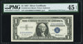 Error Notes:Mismatched Serial Numbers, Mismatched Serial Numbers Error Fr. 1619 $1 1957 SilverCertificate. PMG Choice Extremely Fine 45 EPQ.. ...