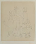 Prints & Multiples:Print, After Pablo Picasso . Famille des saltimbanques, c. 1950. Etching on japon nacré paper. 19-1/2 x 16-1/4 inches (49.5 x 4...