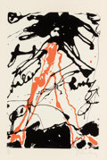 Fine Art - Work on Paper:Print, Claes Oldenburg (b. 1929). Striding Figure, fromConspiracy: The Artist as Witness portfolio, 1971.Screenprint in c...
