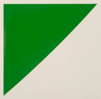 Ellsworth Kelly (1923-2015) Green Curve with Radius of 20', 1974 Lithograph with embossing in colors