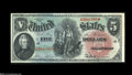 Large Size:Legal Tender Notes, Fr. 64 $5 1869 Legal Tender Very Choice New....