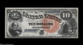Large Size:Legal Tender Notes, Fr. 106 $10 1880 Legal Tender Very Choice New....