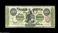 Fr. 125 $20 1862 Legal Tender Very Fine. This is one of the scarcer early Twenties, with about 30 examples known. This p...