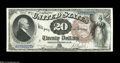 Large Size:Legal Tender Notes, Fr. 138 $20 1880 Legal Tender Gem New....