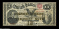 Large Size:Compound Interest Treasury Notes, Fr. 190b $10 1864 Compound Interest Treasury Note Very Fine....