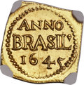 Brazil, Brazil: Pernambuco. Geoctroyeede West-Indische Compagnie (GWC) goldKlippe 3 Guilders (Florins) 1645 MS63 NGC,...