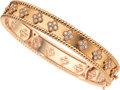 Estate Jewelry:Bracelets, Diamond, Rose Gold Bracelet, Van Cleef & Arpels, French. ...