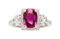 Estate Jewelry:Rings, Ruby, Diamond, Platinum Ring, Henri Daussi. ...