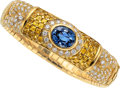 Estate Jewelry:Bracelets, Sapphire, Diamond, Gold Bracelet, Elan. ...