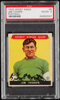 Football Cards:Singles (Pre-1950), 1933 Sport Kings Jim Thorpe #6 PSA VG-EX 4....