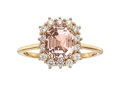 Estate Jewelry:Rings, Padparadscha Sapphire, Diamond, Gold Ring. ...