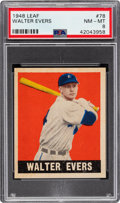Baseball Cards:Singles (1940-1949), 1948 Leaf Walter Evers #78 PSA NM-MT 8 - Only One Higher....