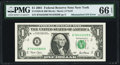 Error Notes:Mismatched Serial Numbers, Mismatched Serial Numbers Error Fr. 1926-B $1 2001 Federal ReserveNote. PMG Gem Uncirculated 66 EPQ.. ...