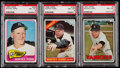 Baseball Cards:Lots, 1965-67 Topps Whitey Ford PSA NM-MT 8 Graded Trio (3)....