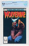 Modern Age (1980-Present):Superhero, Wolverine #3 (Marvel, 1982) CBCS NM 9.4 White pages.