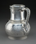 Silver & Vertu:Hollowware, A John C. Moore Silver Pitcher with Masque-Form Handle Join for Tiffany & Co., New York , circa 1875. Marks: TIFFANY & CO....