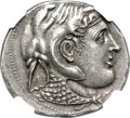 Ancients:Greek, Ancients: PTOLEMAIC EGYPT. Ptolemy I Soter, as Satrap (323-305/4 BC). AR tetradrachm (29mm, 15.66 gm, 12h). NGC Choice AU★ 5/5 - 5...