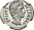 Ancients:Roman Imperial, Ancients: Augustus (27 BC-AD 14). AR denarius (22mm, 3.56 gm, 5h).NGC Choice VF 5/5 - 4/5....