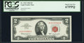 Small Size:Legal Tender Notes, Fr. 1513 $2 1963 Legal Tender Note. PCGS Superb Gem New 67PPQ.. ...