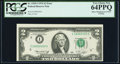 Error Notes:Miscellaneous Errors, Minor Misaligned Face Printing Error Fr. 1935-I $2 1976 Federal Reserve Note. PCGS Very Choice New 64PPQ.. ...