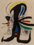 Fine Art - Work on Paper:Print, Joan Miró (1893-1983). Une telle et son petite mari, 1970.Etching and aquatint with carborundum in colors on paper. 26 ...