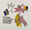 Prints & Multiples:Print, Roy Lichtenstein (1923-1997). Study of Hands, 1981. Lithograph and screenprint in colors on Rives BFK paper. 31-1/2 x 32...