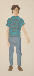 Prints & Multiples:Print, Alex Katz (b. 1927). The Striped Shirt, 1980. Aquatint in colors on Arches paper. 46 x 21-1/8 inches (116.8 x 53.7 cm) (...