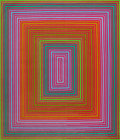 Prints & Multiples:Tapestries, Richard Joseph Anuszkiewicz (b. 1930). Purpleish-Warm Rectangle, 1974. Wool tapestry. 82 x 70 inches (208.3 x 177.8 cm)...