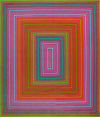 Richard Joseph Anuszkiewicz (b. 1930) Purpleish-Warm Rectangle, 1974 Wool tapestry 82 x 70 inches