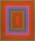 Prints & Multiples:Tapestries, Richard Joseph Anuszkiewicz (b. 1930). Purple Cool Rectangle, 1974. Wool tapestry. 82 x 70 inches (208.3 x 177.8 cm). Ed...
