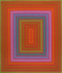 Richard Joseph Anuszkiewicz (b. 1930) Purple Cool Rectangle, 1974 Wool tapestry 82 x 70 inches (2