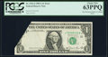 Error Notes:Foldovers, Foldover Fr. 1912-J $1 1981A Federal Reserve Note. PCGS Choice New63PPQ.. ...