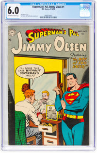 Superman's Pal Jimmy Olsen #1 (DC, 1954) CGC FN 6.0 Off-white to white pages