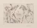 Prints & Multiples:Print, Pablo Picasso (1881-1973). Enlèvement, from Séries 347, 1968. Drypoint on Rives paper. 5-3/4 x 8-3/4 inches (14.6 x ...