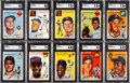Baseball Cards:Sets, 1954 Topps Baseball Partial Set (202/250). ...
