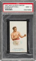Boxing Cards:General, 1887 N28 Allen & Ginter Charlie Mitchell PSA Mint 9 - The Ultimate PSA Example. ...