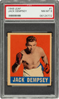 Boxing Cards:General, 1948 Leaf Jack Dempsey #1 PSA NM-MT 8 - Pop Two, None Higher....