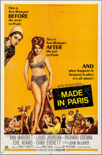 "Made in Paris & Other Lot (MGM, 1966). Folded, Fine/Very Fine. One Sheets (2) (27"" X 41""). Comedy..."