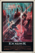 """Movie Posters:Fantasy, Excalibur & Other Lot (Warner Brothers, 1981). Folded, Fine+.One Sheets (2) (27"""" X 41""""). Bob Peak Artwork. Fantasy.. ... (Total:2 Items)"""