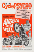 "Movie Posters:Exploitation, Angels from Hell (American International, 1968). Folded, Fine/VeryFine. One Sheet (27"" X 41""). Exploitation.. ..."