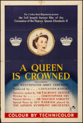 "Movie Posters:Documentary, A Queen is Crowned (Rank, 1953). Folded, Fine/Very Fine. British One Sheet (27"" X 40""). Documentary.. ..."