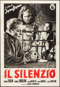 "The Silence (I.N.D.I.E.F,, 1964). Folded, Very Fine-. Italian 2 - Fogli (39.25"" X 55""). Foreign"