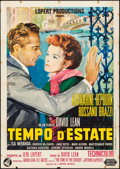 "Movie Posters:Romance, Summertime (United Artists/London Film, R-1964/1955). Folded,Fine+. Italian 2 - Fogli (39.25"" X 55"") & Danish Poster(24.25... (Total: 2 Items)"