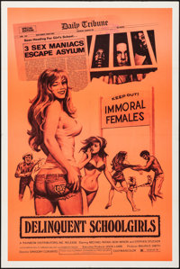 Delinquent School Girls & Other Lot (Rainbow Releasing, 1975). Folded, Overall: Very Fine-. One Sheets (2) (28&q...